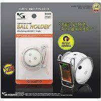 Deluxe Golf Ball Clip Holder for Belt (SILVER)
