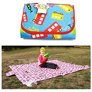 KF Baby Feeding & Play Mat - School Bus (68 x 61 inch)