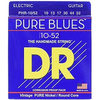 DR Strings PHR-10/52 Electric Guitar 10/52, Pure Blues
