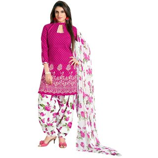 Maxthon Fashion Women's Unstitched Printed Salwar Suit Dress Material