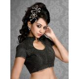 Womens Readymade Choli in Black Silk Tailor made Choli New Custom made Saree's  Blouse Belly Top Hot Indian Tradional Stitched Choli