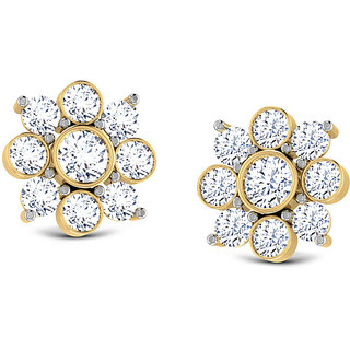 Classic Nakshatra Earrings - Hallmark 14Kt Gold With Certified SI/IJ Diamonds
