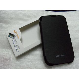 MICROMAX A27 A 27 NINJA BATTERY REPLACEABLE FLIP COVER CASE BLACK COLOR