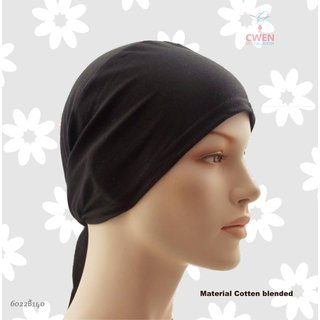 Hijab TIE BACK BONNET Abaya Cap Women Hair Men Helmet Hat Ladies Under Scarf Stole Kitchen Pregnancy Head Black