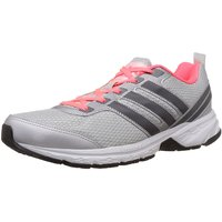 Adidas Women'S Adi Pacer W Silver, Black And Flash Red Mesh Running Shoes