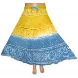 Truly Beautiful Designer Boho Bohemian Tie & Dye Cotton Long Skirt with Sequins Work