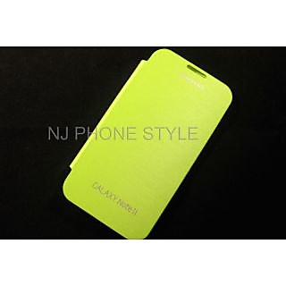Samsung Flip Cover for Galaxy Note 2 N7100   Light Green available at ShopClues for Rs.145