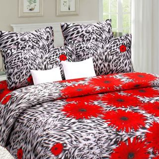 Designer Cotton Double Bedsheet with 2 Pillow Cover - Sun flower
