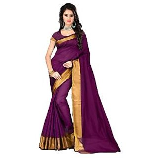 Indian Beauty Purple Art Silk Saree