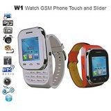 KenXinda Watch Mobile !! Slider !! Dual SIM !! Free Bluetooth Headset-RED