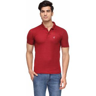Rico Sordi Men'S Maroon Polo Collar T-Shirt