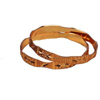 Dwellkart Fancy Golden Bangle JBA1419