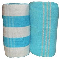 Bp Combo Of 2pc LUXURY BATH TOWEL - BLUE&ydBLUE