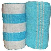 Bp Combo Of 2pc LUXURY BATH TOWEL - BLUE&ydBLUE