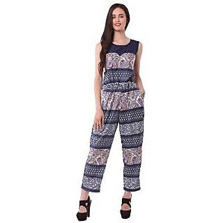Eyelet Printed Womens Jumpsuit