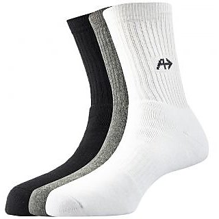 Arrow Mens Sports Calf Length Cotton Socks Pack Of 3 Pair