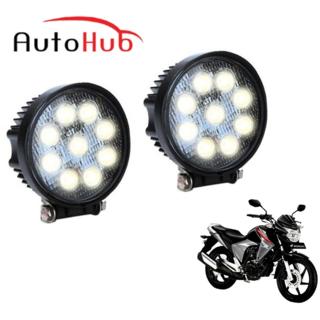 Auto Hub Bike 9 LED Fog Light Lamp For Honda CB Unicorn Dazzler - Pack of Two