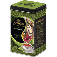 Nargis Premium Quality Indian Black Leaf Tea - Darjeeling In Metal Tin 200gms