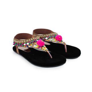 Do Bhai Sandal-558-Copper Flat Sandal for Women