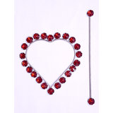 HomeSazawat Beautiful Crystal Stone Heart Shape Curtain Lock Maroon(set Of 2)