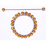 Homesazawat Beautiful Crystal Stone Round Shape Curtain Lock Golden(set Of 2)