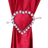 HomeSazawat Beautiful Crystal Stone Heart Shape Curtain Lock White(set Of 2)