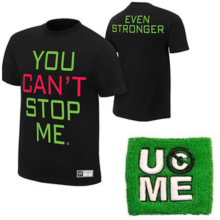 John Cena You Cant Stop Me T-shirt With Green Wrist Band