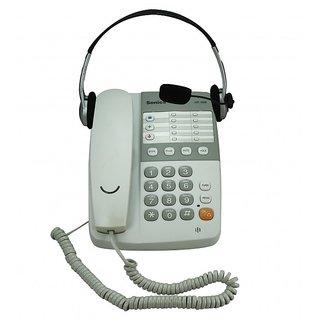 Sonics White 13 Memories Speaker Phone with Headset (HT-929 HS)
