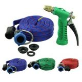 Garden Bike Car Wash Pipe Flat Hose Water Gun Spray For Car, Pet Bath