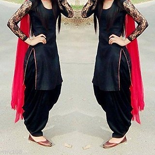 Have one to sell Sell it yourself Indian Stylish Designer Punjabi Patiala Suit Salwar Kameez Dress Material Women