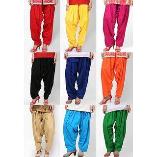 Aashish Fabrics Multicolor Cotton Salwar