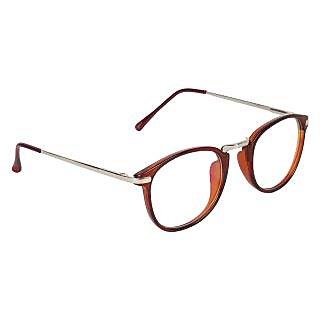 Zyaden Brown Round Eyewear Frame 213