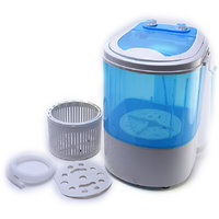 Lifelong WM01 Portable Mini Washing machine 3 Kg Semi automatic top load with Dryer Basket(Blue)