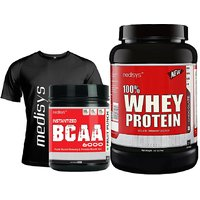 Muscle Performance Stack Whey Protein Chocolate 1Kg+BCAA Free T-Shirt