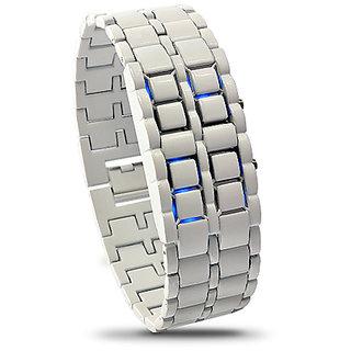 Iron Samurai Shiro - White Japanese Style Inspired Blue LED Watch