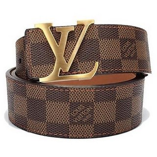 LV Brown Check Belt (B) (Size#38) COD And Free Shipping Available