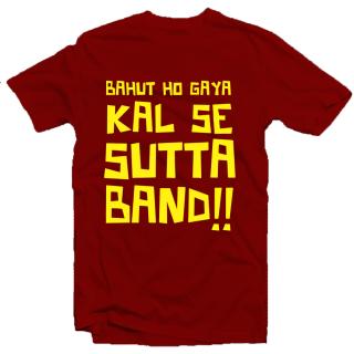 Sutta Band Enquotism Cotton Round Neck