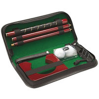 An Ideal Gift Executive Portable Folding Leather Golf Kit Set