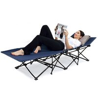 Portable Folding Camping Bed Beach Bed With Carry Bag Outdoor Camping Furniture