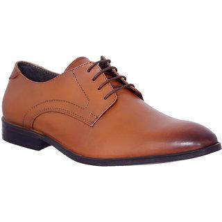 Allen Cooper AC-11703 Tan Premium Leather Formal Derby Shoes
