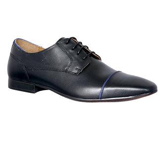 Allen Cooper AC-12562 Black Premium Leather Formal Derby Shoes