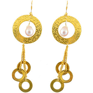 Sparkling Drop Jaipur Handcrafted Classy Brass Earrings