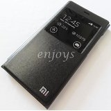 BLACK LEATHER FLIP CASE COVER For Xiaomi Mi3 Flip Cover Case