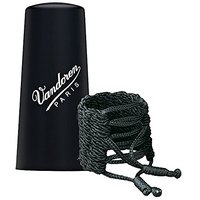 Vandoren LC35P Klassik Ligature and Plastic Cap for Bb German Clarinet with 3 Interchangeable Pressure Plates