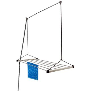 TNC Drywell 6pipes 5 feet long Economy Cloth Dryer Stainless Steel Ceiling Cloth Dryer Stand (Steel)
