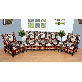 multi cotton 6 piece sofa cover with attractive colour and