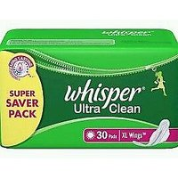 Whisper Ultra Clean XL Wings - Pack Of 30 Pads
