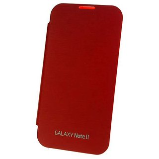 Flip Cover Red for Samsung Galaxy Note II  Samsung Galaxy Note 2 available at ShopClues for Rs.199