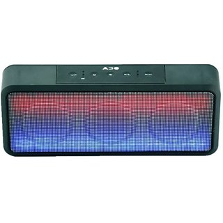 Mectronix A-30 Speaker With Colour Changing LED Lights (Supports Bluetooth USB Aux Memory Card) Portable Bluetooth Mobile/Tablet Speaker (Black 2.1 Channel)