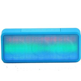 Mectronix A-30 Speaker With Colour Changing LED Lights (Supports Bluetooth USB Aux Memory Card) Portable Bluetooth Mobile/Tablet Speaker (Blue 2.1 Channel)